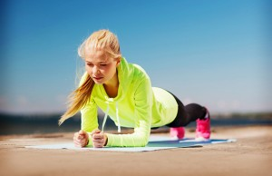 نمونه تمرین برای عضلات عمقی شکم