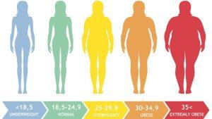 بی ام آی BMI یا شاخص توده بدنی چیست